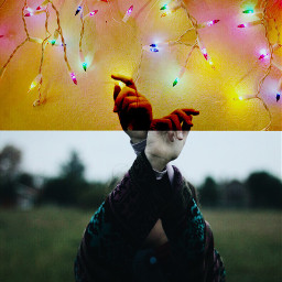 FreeToEdit lights hands remix interesting retro indie girl