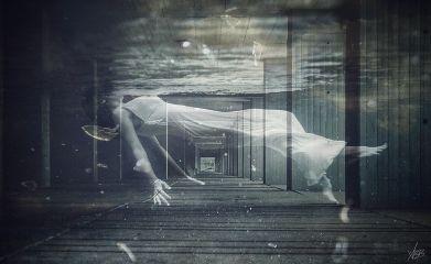 levitate levitation woman collage myphotography