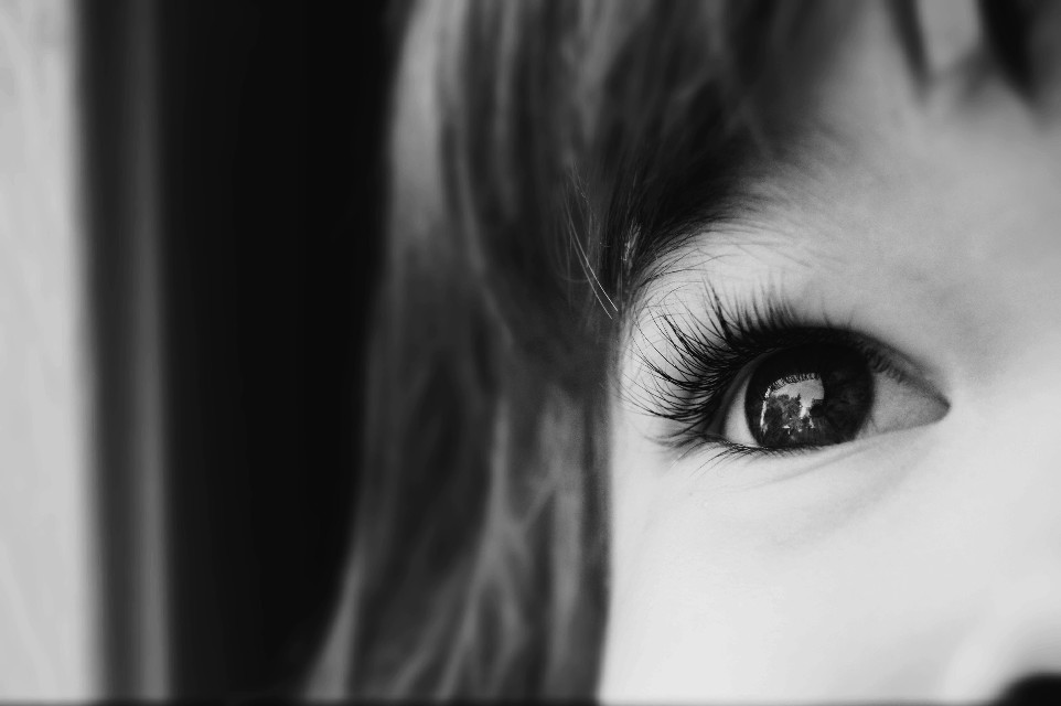 #children #eye #blackandwhite #sad #childish #photography #freetoedit