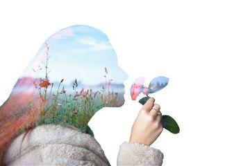 colorful nature antiselfie portrait flower