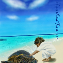 wdpshowmethesea cutebaby sea turtle digital