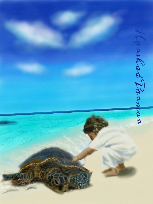 #wdpshowmethesea #cutebaby #sea #turtle #digital  Hope u all like it my friends, thanx in advance for ur likes, votes& repost.