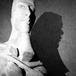 sculpture egypt blackandwhite musee louvre