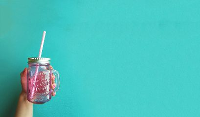 hand glass pinkandblue freetoedit newlookcupwithstraw