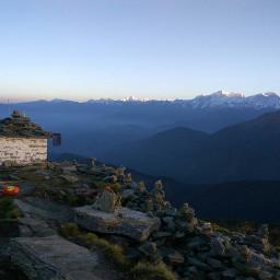 hilltop mountainscape landscape beautiful view