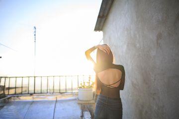 freetoedit girl sunset grig15