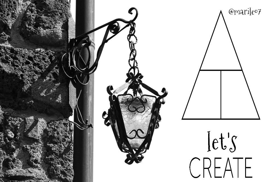 Let's create 🎨🌌  #blackandwhite #clipart #playwithpicsart #lamp_art #retro #photoquotes