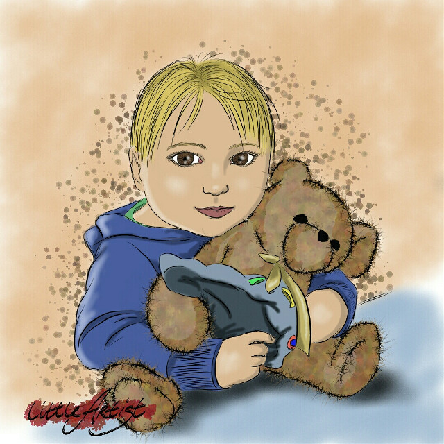 Little boy 🐞#baby #colorful #cute #people #digitalart #painting #artist #art #infinitepainter #kids #illustration