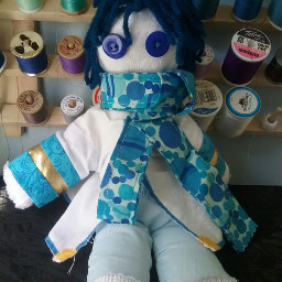 blue cute colorful doll vocaloid