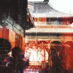 beijing red crowd window