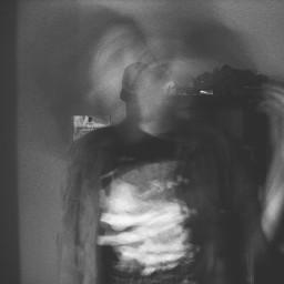 selfportrait blackandwhite blur FreeToEdit