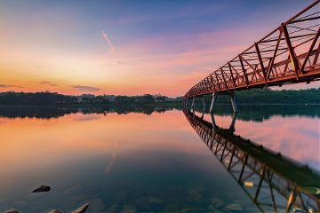 photooftheday picoftheday reflection bridge skyline