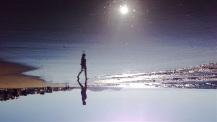 interesting abstract beach mirror sea freetoedit