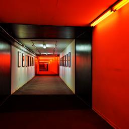 funky hallway underground tunnel okc