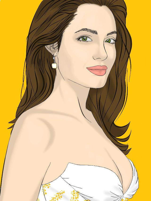 Angelina jolie 😊  #wdpcrazylips #blackandwhite #colorful #love #music #pencilart #photography