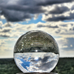 chrystal_ball chrystalball glass_ball golden_hour glaskugelfotografie