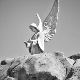 mindshift day201 angel carving blackandwhite freetoedit