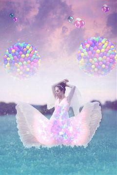 freetoedit balloon girl magical