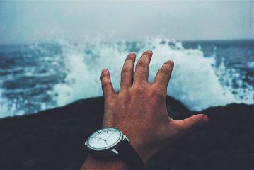 freetoedit hand man sea wave