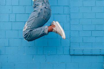 freetoedit jump brickwall woman