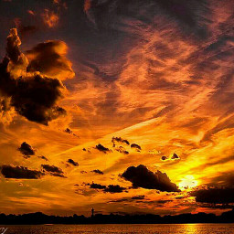 thesun theclouds thesky sunset thesea