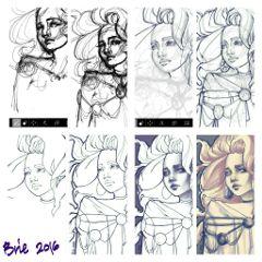 stepbystep drawing process