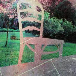Faint Chair Trees Antique Overlay