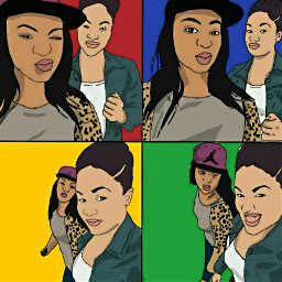 dope popart colorful people illustration