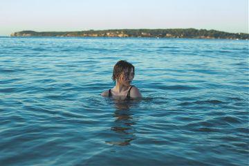 freetoedit water blue woman human
