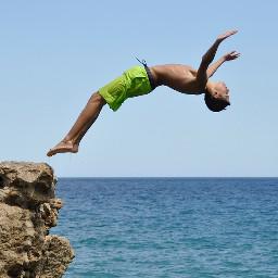 FreeToEdit diving sport summer human boy sea freedom movement
