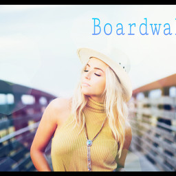 girl boardwalk lens_flare freetoedit