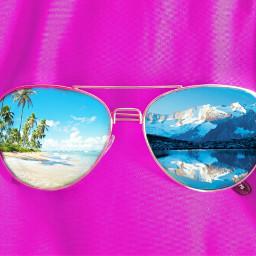 sunglasses summer beach mountain creative