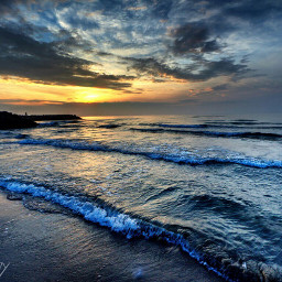 thesky theclouds sunrise thesea thebeach