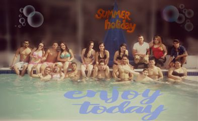 summer fun gathering friends pooltime