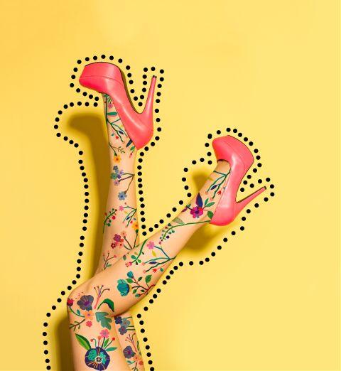 #flower,#legs,#heels,#colors,#yellow